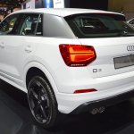 Audi Q2 rear three quarters left side at 2017 Dubai Motor Show
