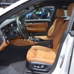 BMW 6 Series GT front seats at 2017 Dubai Motor Show