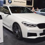 BMW 6 Series GT front three quarters right side at 2017 Dubai Motor Show