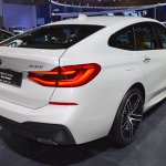 BMW 6 Series GT rear three quarters at 2017 Dubai Motor Show