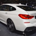 BMW 6 Series GT rear three quarters left side at 2017 Dubai Motor Show