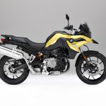BMW F 750 GS yellow press shot right side