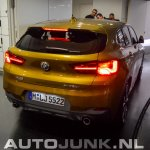 BMW X2 live images tail section
