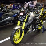 Custom Yamaha M-Slaz front left quarter at 2017 Thai Motor Expo
