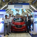 Datsun India 100000th car roll out
