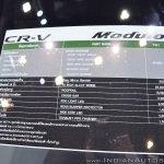 Honda CR-V Modulo at Thai Motor Expo 2017 price