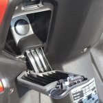 Honda Grazia first ride review apron compartment lid