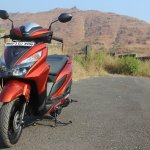 Honda Grazia first ride review front closeup