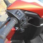 Honda Grazia first ride review left switchgear