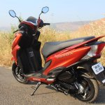 Honda Grazia first ride review rear left quarter