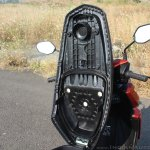 Honda Grazia first ride review seat underside