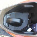 Honda Grazia first ride review underseat compartment empty