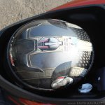 Honda Grazia first ride review underseat compartment full