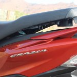 Honda Grazia first ride review underseat storage open