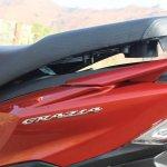 Honda Grazia first ride review underseat storage open