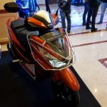 Honda Grazia launch with accessories front right quarter