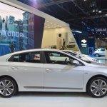 Hyundai Ioniq hybrid profile at 2017 Dubai Motor Show