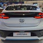 Hyundai Ioniq hybrid rear at 2017 Dubai Motor Show