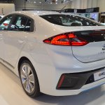 Hyundai Ioniq hybrid rear three quarters at 2017 Dubai Motor Show
