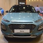 Hyundai Kona front at 2017 Dubai Motor Show