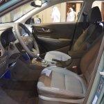 Hyundai Kona front seats at 2017 Dubai Motor Show