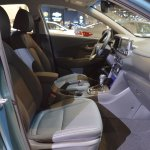 Hyundai Kona front seats passenger side view at 2017 Dubai Motor Show