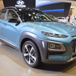 Hyundai Kona front three quarters at 2017 Dubai Motor Show