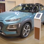 Hyundai Kona front three quarters left side at 2017 Dubai Motor Show