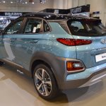 Hyundai Kona rear three quarters at 2017 Dubai Motor Show