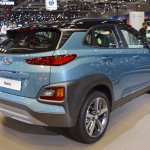 Hyundai Kona rear three quarters right side at 2017 Dubai Motor Show