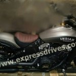 Indian Scout Bobber spied right side view