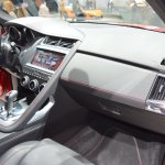 Jaguar E-Pace First Edition dashboard passenger side view at 2017 Dubai Motor Show