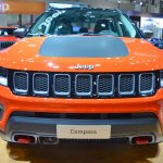 Jeep Compass Trailhawk front at 2017 Dubai Motor Show