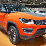 Jeep Compass Trailhawk front three quarters right side at 2017 Dubai Motor Show