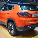 Jeep Compass Trailhawk rear three quarters left side at 2017 Dubai Motor Show