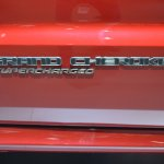 Jeep Grand Cherokee Trackhawk Supercharged badge at 2017 Dubai Motor Show