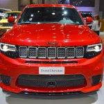 Jeep Grand Cherokee Trackhawk front at 2017 Dubai Motor Show