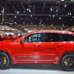 Jeep Grand Cherokee Trackhawk profile at 2017 Dubai Motor Show
