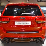 Jeep Grand Cherokee Trackhawk rear at 2017 Dubai Motor Show