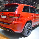 Jeep Grand Cherokee Trackhawk rear three quarters at 2017 Dubai Motor Show