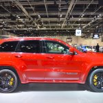 Jeep Grand Cherokee Trackhawk right side at 2017 Dubai Motor Show