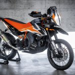 KTM 790 Adventure R Prototype studio shot front right quarter
