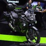Kawasaki Versys-X 300 Camo Edition front right quarter at 2017 Thai Motor Expo