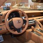 Lexus Fluidity of Hybrid Electric concept dashboard at 2017 Dubai Motor Show