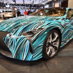 Lexus Fluidity of Hybrid Electric concept front three quarters at 2017 Dubai Motor Show