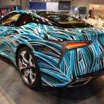 Lexus Fluidity of Hybrid Electric concept rear three quarters left side at 2017 Dubai Motor Show