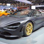 MSO Bespoke Mclaren 720S front three quarters left side at the 2017 Dubai Motor Show