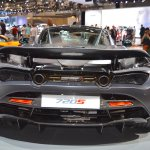 MSO Bespoke Mclaren 720S rear at the 2017 Dubai Motor Show
