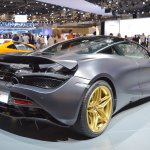 MSO Bespoke Mclaren 720S rear three quarters at the 2017 Dubai Motor Show
