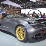 MSO Bespoke Mclaren 720S rear three quarters left side at the 2017 Dubai Motor Show